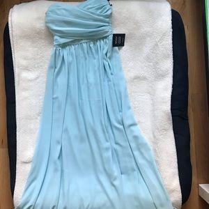 Baby Blue Sleeveless Sweetheart Dress